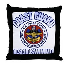 Rescue Swimmer Throw Pillow