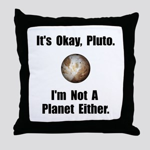 Pluto Planet Throw Pillow