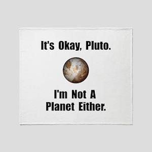 Pluto Planet Throw Blanket
