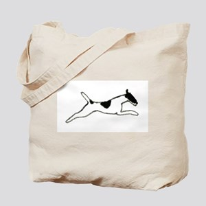 Leaping Smooth Fox Terrier Tote Bag