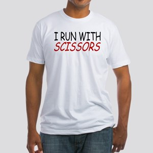 """""""I Run With Scissors"""" Fitted T-Shirt"""