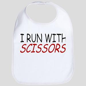 """""""I Run With Scissors"""" Bib"""
