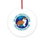 Sheltie Nation Ornament (Round)