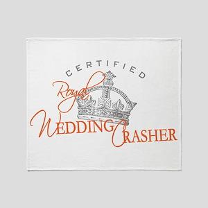 Royal Wedding Crashers Throw Blanket