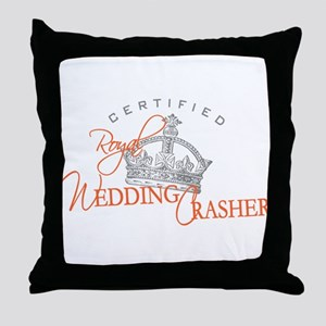 Royal Wedding Crashers Throw Pillow
