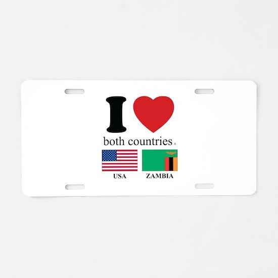 USA-ZAMBIA Aluminum License Plate
