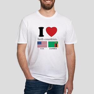 USA-ZAMBIA Fitted T-Shirt