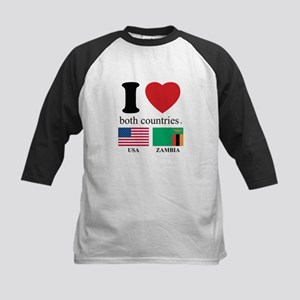 USA-ZAMBIA Kids Baseball Jersey