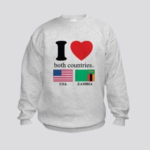 USA-ZAMBIA Kids Sweatshirt