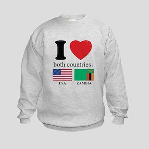 USA-ZAMBIA Kids Sweatshirt
