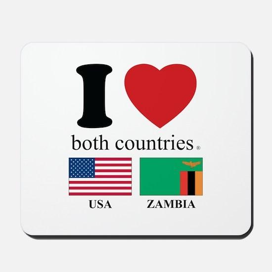 USA-ZAMBIA Mousepad