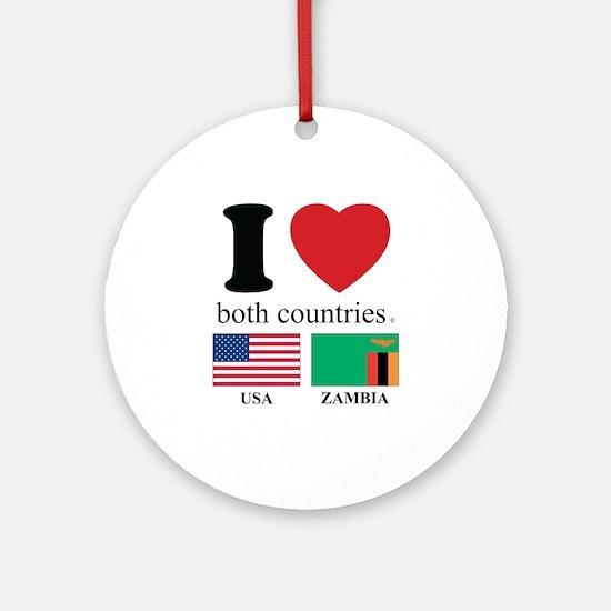 USA-ZAMBIA Ornament (Round)