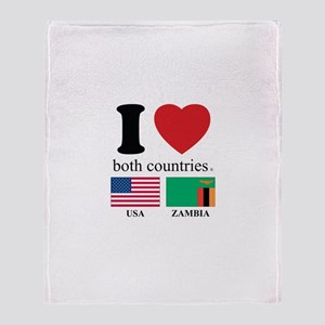 USA-ZAMBIA Throw Blanket