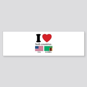 USA-ZAMBIA Sticker (Bumper)