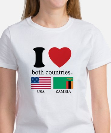 USA-ZAMBIA Women's T-Shirt