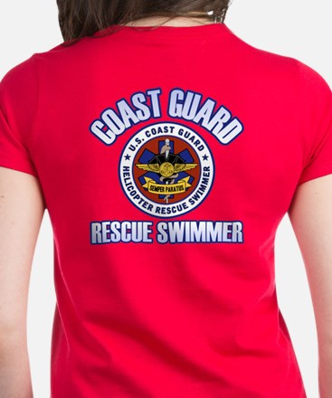 2-Sided Rescue Swimmer Women's Dark T-Shirt