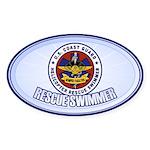 Rescue Swimmer Sticker (Oval 10 pk)