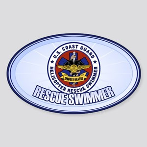 Rescue Swimmer Sticker (Oval)