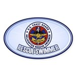 Rescue Swimmer Sticker (Oval)