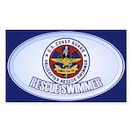 Rescue Swimmer Sticker (Rectangle)