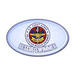 Rescue Swimmer 38.5 x 24.5 Oval Wall Peel