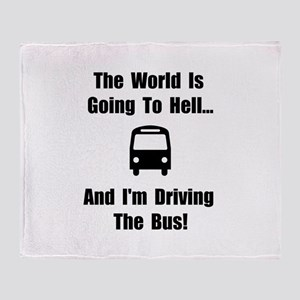 Bus To Hell Throw Blanket