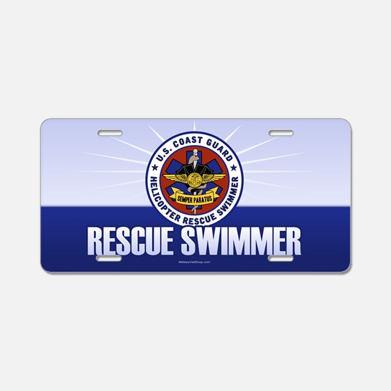 Rescue Swimmer Aluminum License Plate