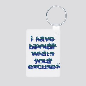 Bipolar Aluminum Photo Keychain
