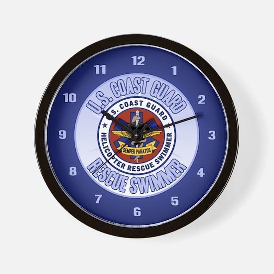 Rescue Swimmer Wall Clock