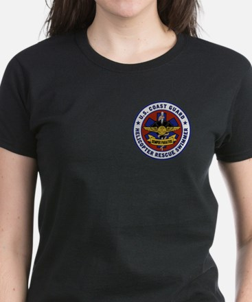 Rescue Swimmer Patch Women's Dark T-Shirt