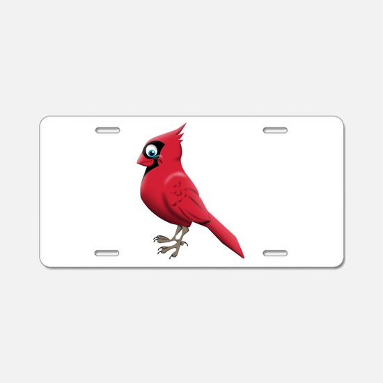 Red Smiley Face Aluminum License Plate