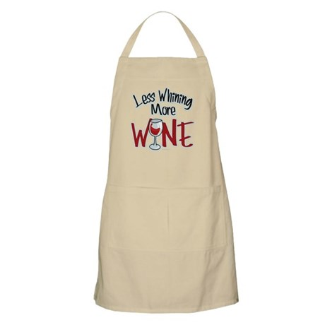 Less Whining More Wine Apron