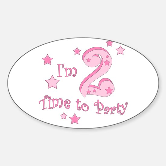Second / 2nd birthday toddler girl pink Decal