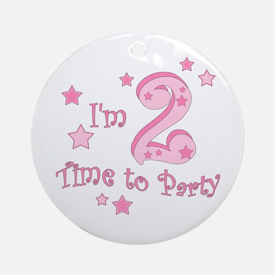Second / 2nd birthday toddler girl pink Ornament (