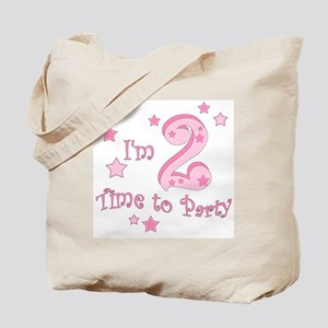 Second / 2nd birthday toddler girl pink Tote Bag
