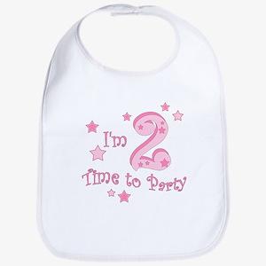 Second / 2nd birthday toddler girl pink Bib