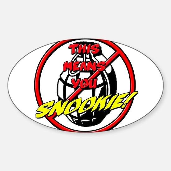 NoGrenadesSnook Sticker (Oval)