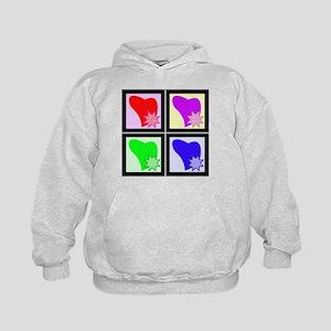Pop Art Hearts Quilt Block Kids Hoodie