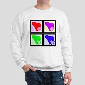 Pop Art Hearts Quilt Block Sweatshirt