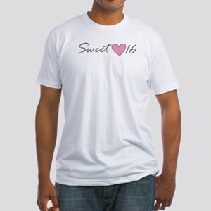 PINK HEART Sweet 16 Fitted T-Shirt
