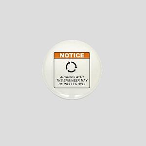Engineer / Argue Mini Button