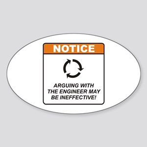 Engineer / Argue Sticker (Oval)