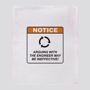 Engineer / Argue Throw Blanket