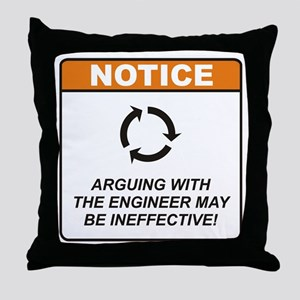 Engineer / Argue Throw Pillow