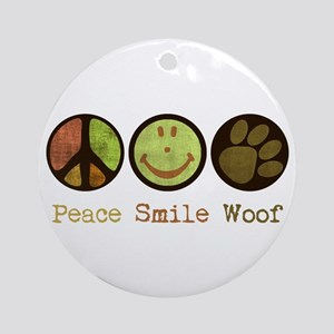 Smile and WOOF Ornament (Round)