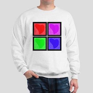 Pop Art Hearts Sweatshirt