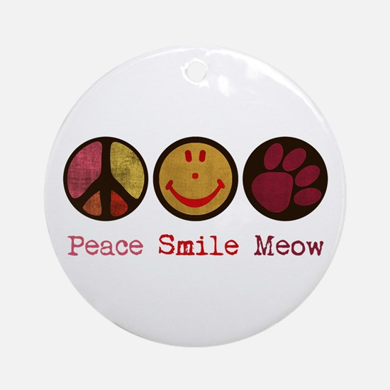 Smile and MEOW Ornament (Round)