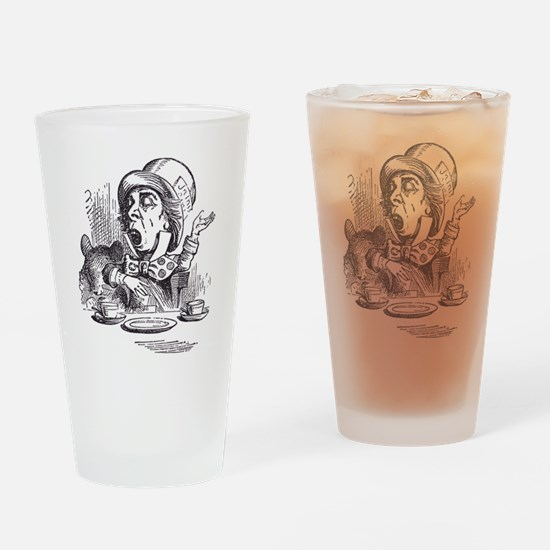 Mad Hatter Drinking Glass