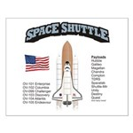 Space Shuttle History Small Poster