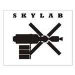 Skylab Silhouette Small Poster